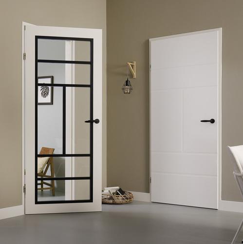 Deurklink zwart svedex for Klinken voor binnendeuren
