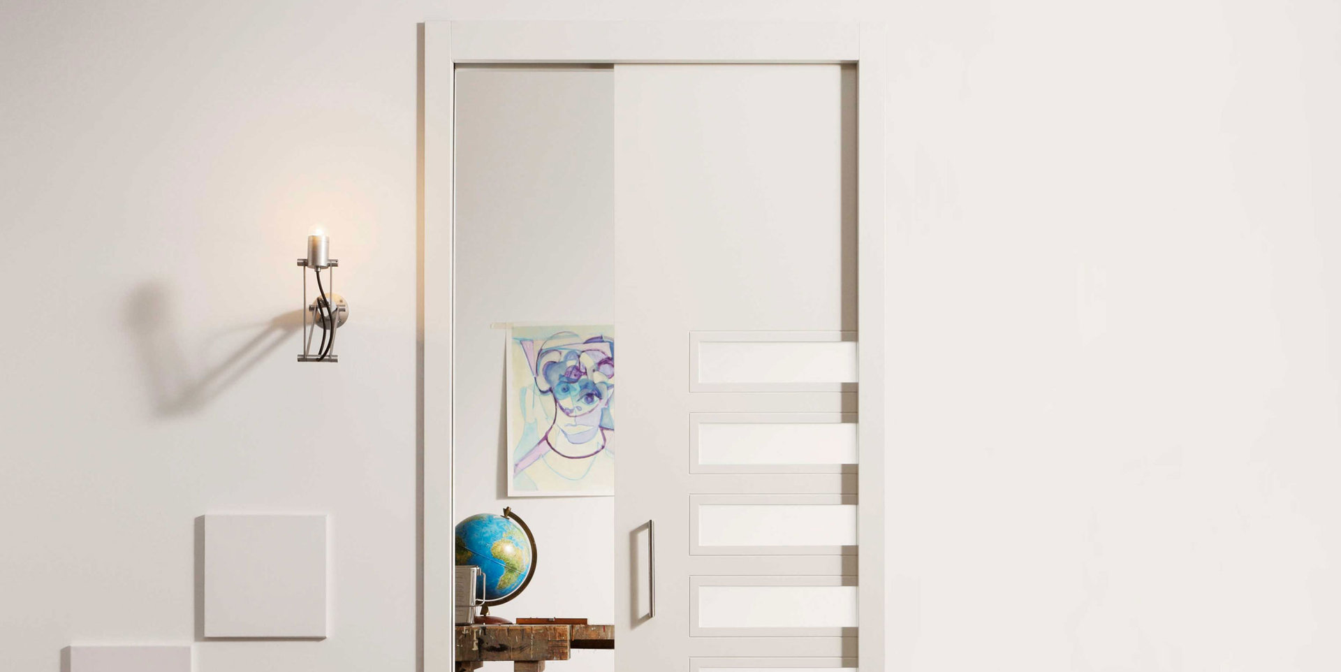 syst me de portes coulissantes galandage svedex. Black Bedroom Furniture Sets. Home Design Ideas