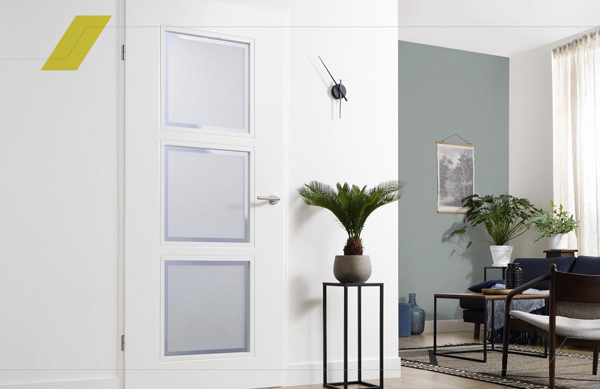 Binnendeur Met Glas Opdek.De Expert In Kant En Klare Binnendeuren Svedex